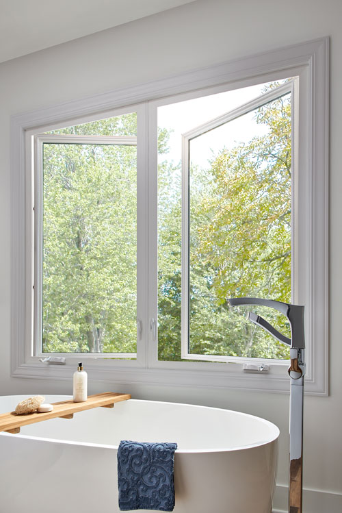 Casement Window in Bathroom